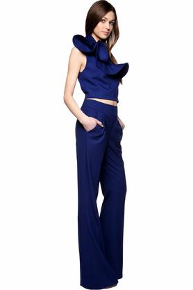 Spodnie dzwony kobaltowe PROJEKTANT Rina Cossack