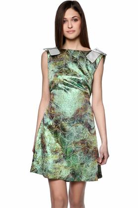 Sukienka z połyskiem zielona PROJEKTANT Monika Błotnicka