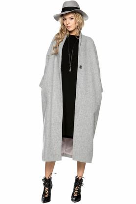 Płaszcz kimonowy jasnoszary PROJEKTANT ForHEN