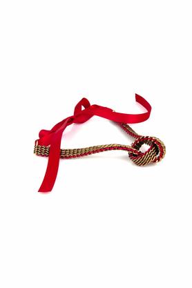 Naszyjnik czerwono-złoty z kokardą PROJEKTANT KOD