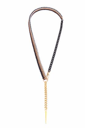 Naszyjnik długi złoto-czarno-kakaowy 4 PROJEKTANT KOD