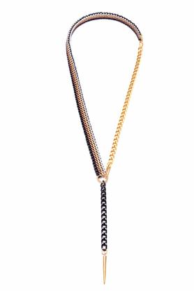Naszyjnik długi złoto-czarno-kakaowy PROJEKTANT KOD