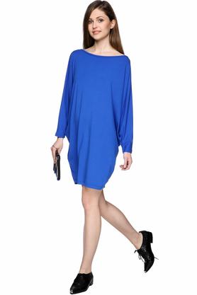 Sukienka luźna niebieska PROJEKTANT Yuliya Babich