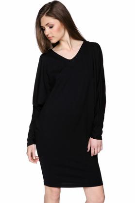 Sukienka z długim rękawem czarna PROJEKTANT Yuliya Babich