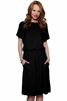 Sukienka uniwersalna z kieszeniami czarna PROJEKTANT Kasia Miciak