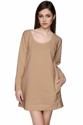 Bluza z kieszeniami beżowa PROJEKTANT Yuliya Babich