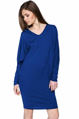 Sukienka z długim rękawem niebieska PROJEKTANT Yuliya Babich