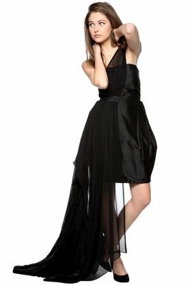 Sukienka asymetryczna z trenem PROJEKTANT Monika Błotnicka