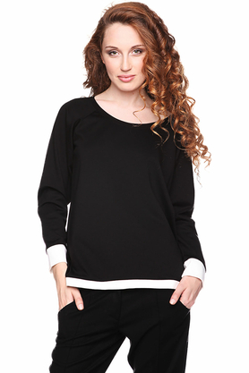 Bluza prosta czarno-biała PROJEKTANT Yuliya Babich