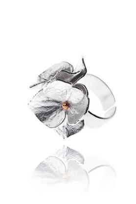 Pierścionek Petals srebrny PROJEKTANT Pradelle
