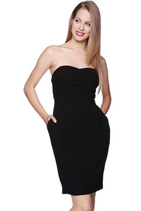 Sukienka gorsetowa Maja czarna PROJEKTANT Inspiracja Butik
