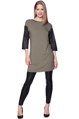 Sukienka khaki PROJEKTANT Yuliya Babich