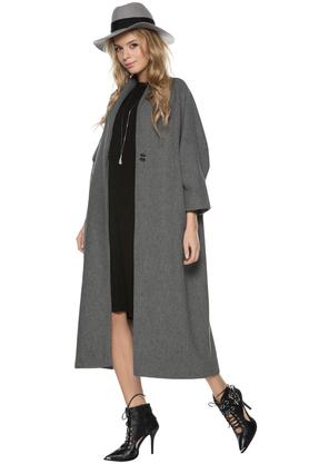 Płaszcz kimonowy szary PROJEKTANT ForHEN