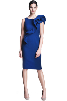 Sukienka ołówkowa kobaltowa PROJEKTANT Rina Cossack