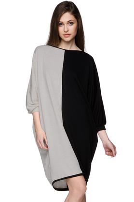 Sukienka geometryczna szaro-czarna PROJEKTANT Yuliya Babich