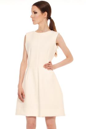 Sukienka klasyczna ecru PROJEKTANT Yuliya Babich