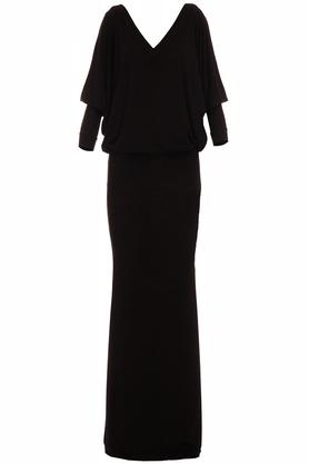 Sukienka maxi z luźną górą czarna PROJEKTANT Yuliya Babich