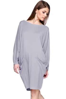 Sukienka z kieszeniami szara PROJEKTANT Yuliya Babich