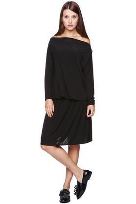 Sukienka Rossmery odcięta gumką czarna PROJEKTANT CAHA