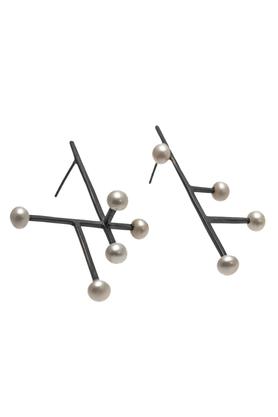 Kolczyki srebrne perła III PROJEKTANT FROU-FROU