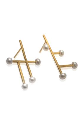 Kolczyki złote perła PROJEKTANT FROU-FROU
