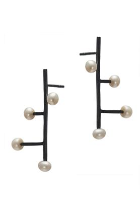 Kolczyki srebrne perła X PROJEKTANT FROU-FROU