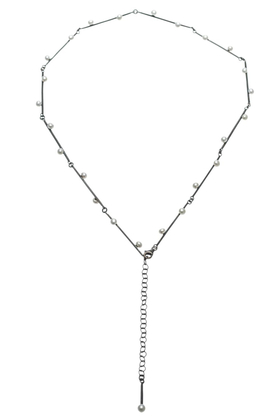 Naszyjnik srebrny perły PROJEKTANT FROU-FROU