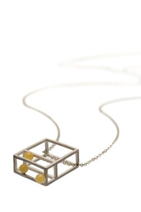 Naszyjnik srebrny bursztyn I PROJEKTANT FROU-FROU
