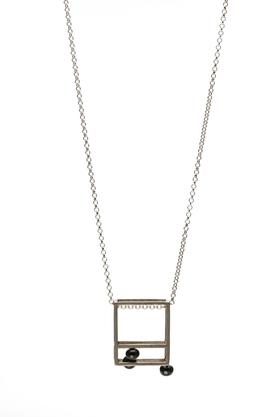 Naszyjnik srebrny perła PROJEKTANT FROU-FROU