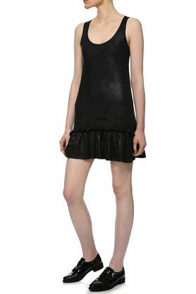 Sukienka mini z falbaną czarna II PROJEKTANT Yuliya Babich