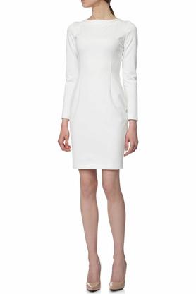Sukienka ołówkowa ecru PROJEKTANT Yuliya Babich