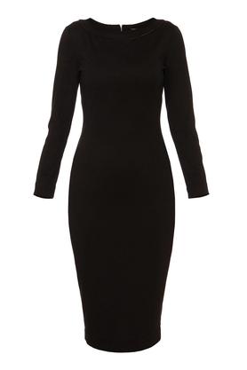 Sukienka midi ołówkowa czarna PROJEKTANT Yuliya Babich