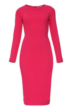 Sukienka midi ołówkowa różowa PROJEKTANT Yuliya Babich