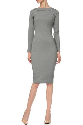 Sukienka midi ołówkowa szara II PROJEKTANT Yuliya Babich