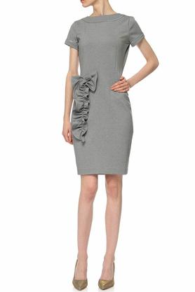 Sukienka z aplikacją szara II PROJEKTANT Yuliya Babich