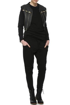 Spodnie sportowe czarne II PROJEKTANT Yuliya Babich