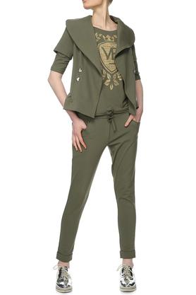 Spodnie sportowe khaki PROJEKTANT Yuliya Babich