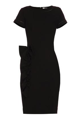 Sukienka z aplikacją czarna PROJEKTANT Yuliya Babich