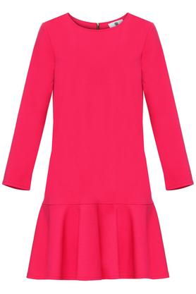 Sukienka z falbanką różowa PROJEKTANT Yuliya Babich
