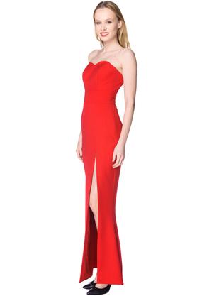 Sukienka gorsetowa maxi syrena czerwona PROJEKTANT Inspiracja Butik