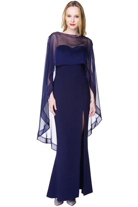 Sukienka gorsetowa maxi syrena granatowa PROJEKTANT Inspiracja Butik