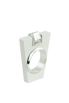 Pierścionek Street Line Diamond biały PROJEKTANT OSTROWSKI DESIGN