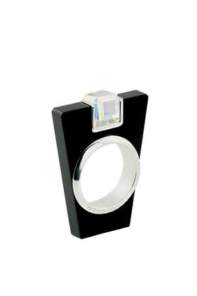 Pierścionek Street Line Diamond czarny PROJEKTANT OSTROWSKI DESIGN