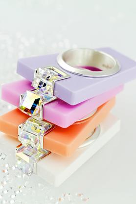 Pierścionek Street Line Diamond różowy PROJEKTANT OSTROWSKI DESIGN