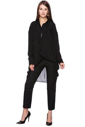 Koszula - sukienka oversize czarna PROJEKTANT VerityHunt