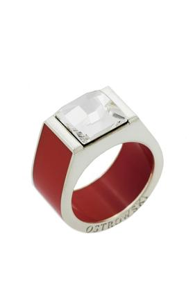 Pierścień Classic czerwony PROJEKTANT OSTROWSKI DESIGN