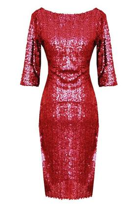 Sukienka Leona cekiny koral PROJEKTANT Kasia Zapała