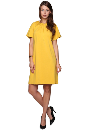 Sukienka marszczona żółta PROJEKTANT VerityHunt