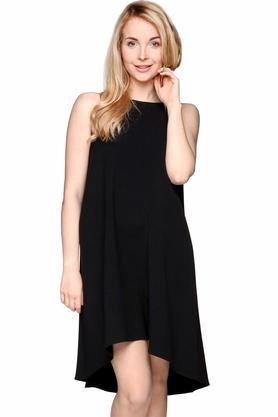 Sukienka trapezowa asymetryczna czarna PROJEKTANT VerityHunt