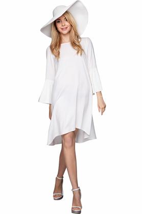 Sukienka z rękawami biała PROJEKTANT VerityHunt